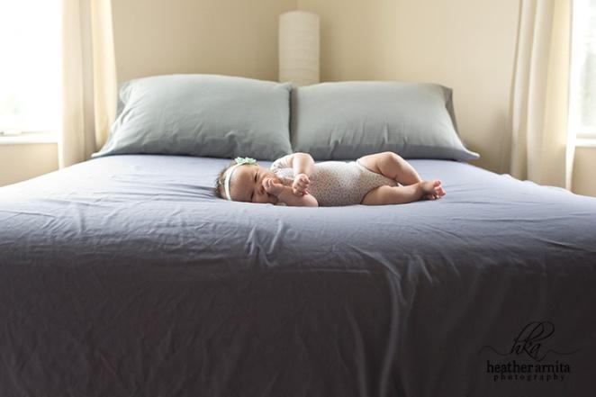 columbus ohio family newborn photography baby on bed web