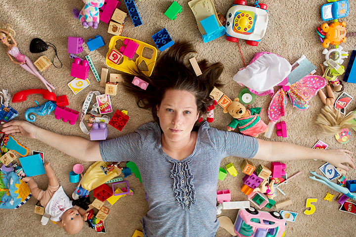 Heather Arnita with toys