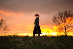 girls with beautiful sunset- columbus ohio