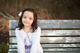 girl on park bench - columbus ohio