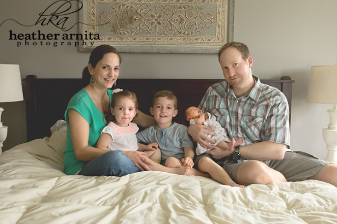 lifestyle family session master bed
