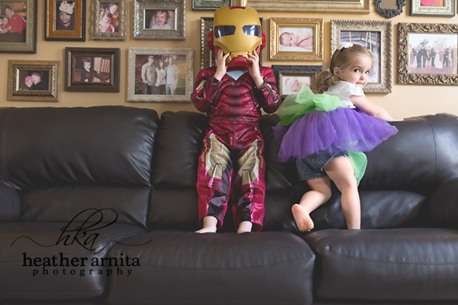 Family lifestyle session kids costume