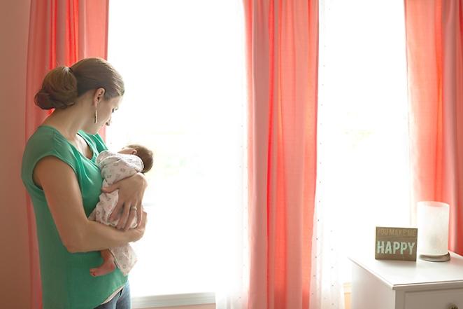 newborn lifestyle session nursery