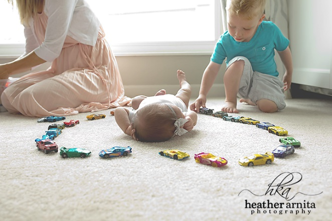 newborn lifetyle session in columbus ohio baby in playroom