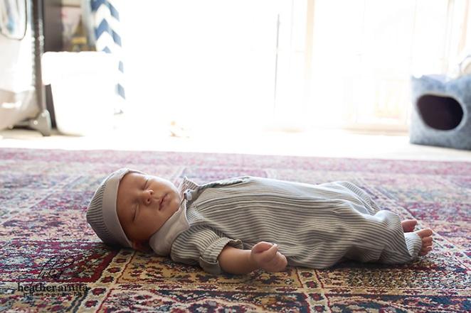 columbus ohio newborn photography baby on carpet