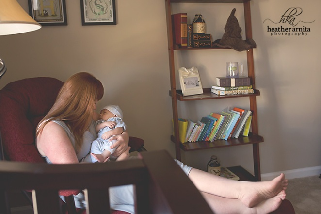 columbus ohio newborn photography harry potter nursery mom and baby