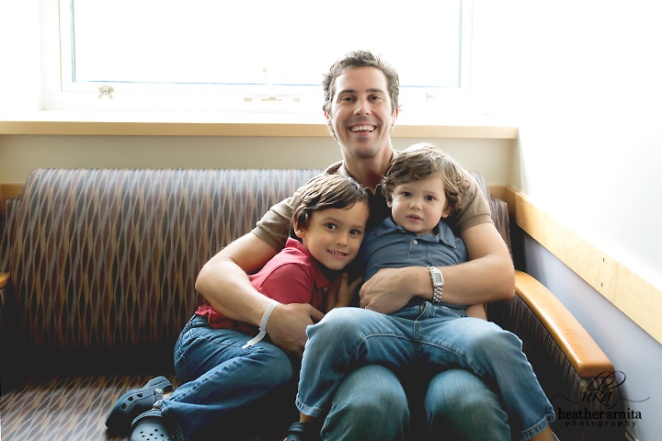 Heather Arnita Photography Fresh 48 session dad sitting with older sons