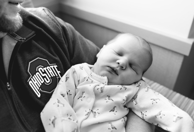 columbus ohio fresh 48 dad holding sleeping baby black and white facebook